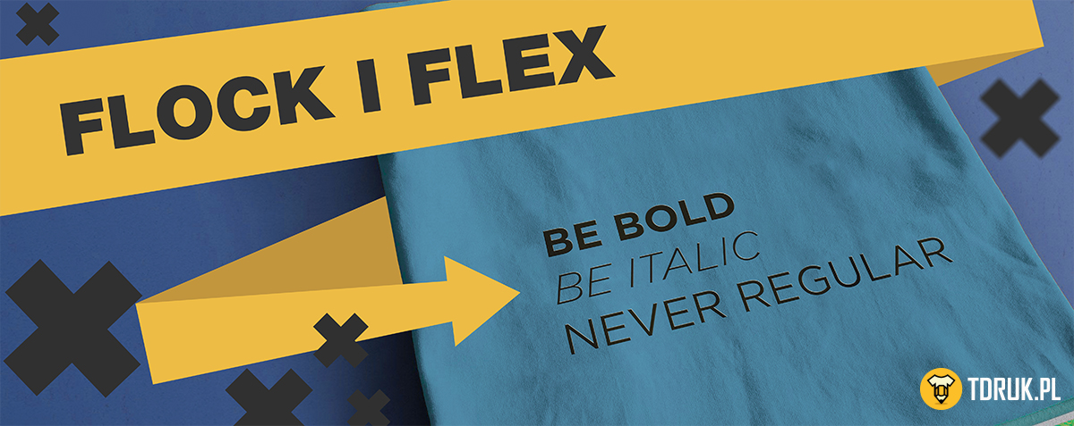 Folia flock i flex - nowe techniki nadruku w T-Druk